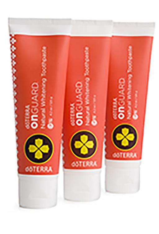 Balíček 3x přírodní bělicí zubní pasty dōTERRA ON GUARD®